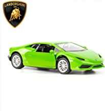 TGRCM-CZ 1/36 Scale Huracan LP610-4 Casting Car Model, Zinc Alloy Toy Car for Kids, Pull Back Vehicles Toy Car for Toddlers Kids Boys Girls Gift (Green)