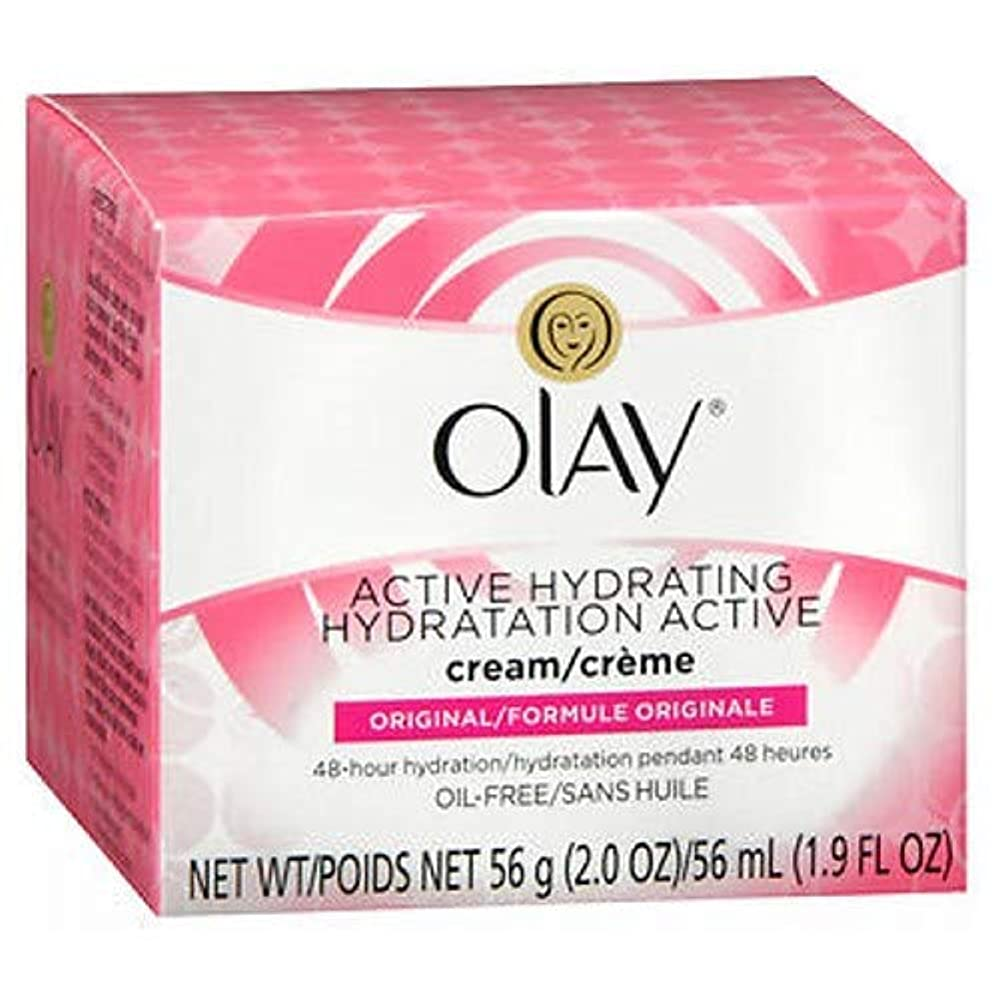 ネクタイ実験をするかろうじて海外直送品Olay Olay Active Hydrating Skin Cream Original, Original 2 oz (Pack of 4)