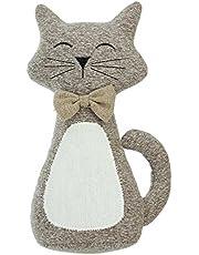 SIDCO Deurstopper kat deurhouder deurrem stoffen kat toeslagrem buffer