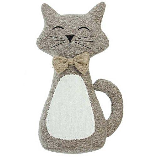 SIDCO Türstopper Katze Miezekatze Türhalter Türbremse Stoffkatze Zuschlagbremse Puffer