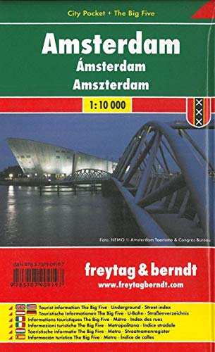 Amsterdam, Stadtplan 1:10.000, City Pocket + The Big Five (freytag & berndt Stadtpläne)