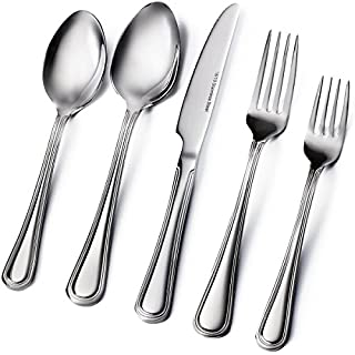 Sagler 20-Piece Flatware Set - Extra thick Heavy duty - 18/10 Stainless Steel silverware sets Set for 4 flatware sets (B01CPLY4JE) | Amazon price tracker / tracking, Amazon price history charts, Amazon price watches, Amazon price drop alerts