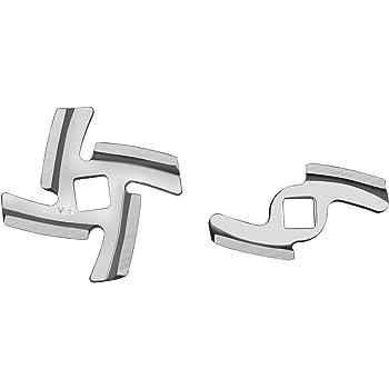 2 unidades, placas de triturado 5#7# 2 cuchillas de picadora de carne Sheawa Kit de repuesto para picadora de carne el/éctrica