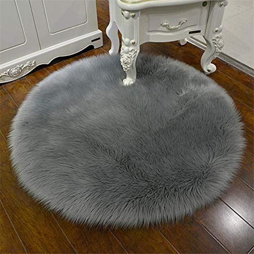 GSDJU 1 pieza de lana sintética para silla, cojín para dormitorio, de lana artificial, cálido y peludo, para sofá, oficina, etc.