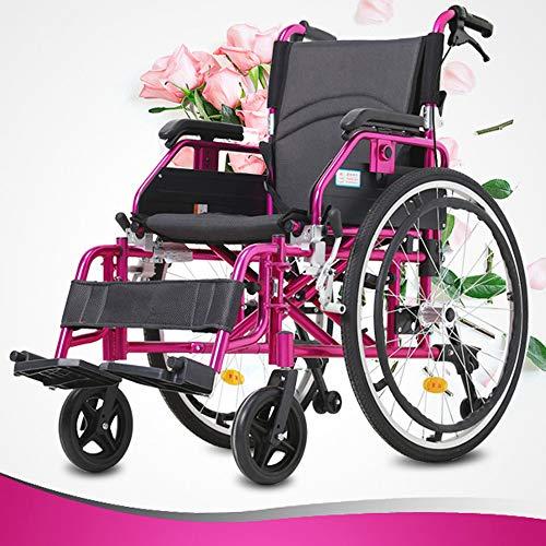 Rollstuhl Faltbar Fußstützen Transferrollstuhl Für Senioren Faltrollstuhl Elegantes Design Pflege Aluminium Rollstuhl Vollgummirädern Schieberollstuhl Klappsystem Leicht