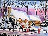 Royal Paris Kits Y Lienzo Canvas Snow Cottage, 32cm x 22cm x 1cm