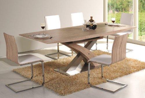 Jadella Essgruppe Raul Tisch+6 Stühle Sonoma Eiche ausziehbar auf 220cm