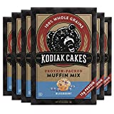 Kodiak Cakes Protein Muffin Mix, Blueberry Power Muffins, High Protein and Fiber (15 grams of protein per serving), Non-GMO, Made with 100% Whole Grains, 6 Boxes (14 oz / box)