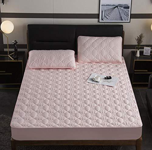 Transpirable Protector de colchón,Ropa de cama de dibujos animados Acolchado Funda de colchón impermeable Sábana gruesa de calor Hoja de cama grande lavable Cama doble Individual-I_200x200cm+30cm
