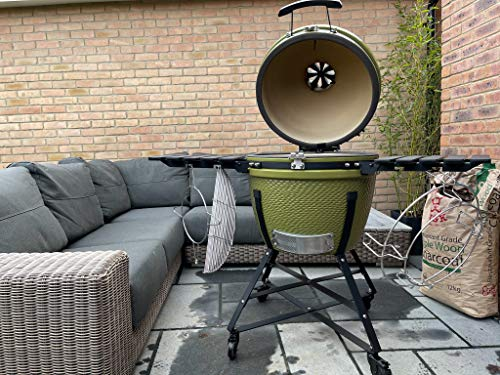 BIG MASTER GRDEN GRILL | OLIVE GREEN | SERIOUSLY GOOD CERAMIC KAMADO GRILL