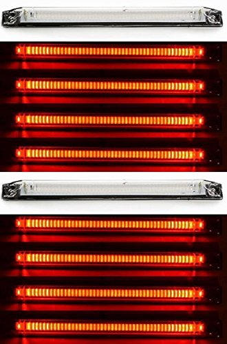 10x rojo 12-24V LED perímetro trasero marcador luces lente transparente 250mm largo lámparas para camión remolque chasis bus camper