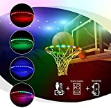 LED Basketball Hoop Lights, Basketball Rim Lights ,Sensor basketball hoop,Sensor Score Counter,Waterproof,Glow-in-The-Dark,Anti-impact,Super Bright Strip,Lights with RGB Light Modes, Outdoors Sports.
