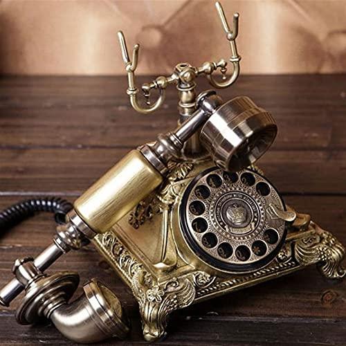 ELKeyko Pasado de Moda Vintage Teléfono Fijo Gira Dial Teléfonos Antiguos Teléfono Fijo for Office Home Hotel Hecho de Resina Teléfono nostálgico (Color : To Saudi Arabia)