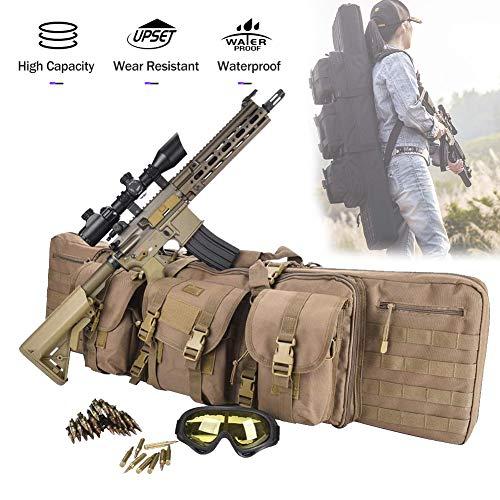 TBDLG Hochwertig Gewehr Weichkoffer, mit justierbarem Schultergurt, FüR Outdoor Tactical Carbine Wasser- Und Staubdicht Jagd SchießEn,120CM