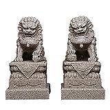 Grandes Leones de Beijing Par Fu Foo Perros Estatuas (un par),...