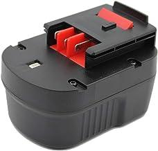 KINSUN Sustitución poder herramienta batería 12V Ni-MH 3000mAh para Black & Decker Taladro inalambrico atornillador de impacto A12 A12-XJ HPB12 A1712 FS120B FSB12 A12EX FS120B FSB12