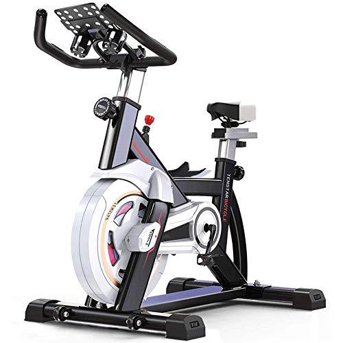 GJJSZ Bicicleta estática con transmisión por Correa estacionaria,Entrenador de Bicicleta para Ciclismo en Interiores,Alta Capacidad de Peso,Volante Resistente con estándar Comercial de
