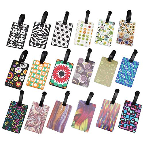 AMAZING1 Travel Luggage Suitcase Labels ID Tags Business Card Holder, Set of 18