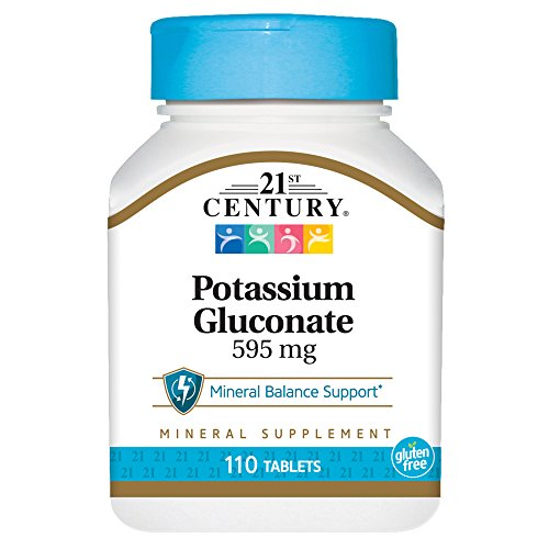 21st Century, Potassium Gluconate, 595 mg, 110 Tablets