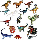 Parches Dinosaurios, 16pcs Parches Ropa Termoadhesivos, Parches Bordados, Parches de Ropa, Parches Termoadhesivos Infantiles, DIY Coser o Planchar en Los Parches