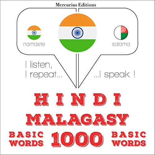 Hindi - Malagasy. 1000 basic words audiobook cover art