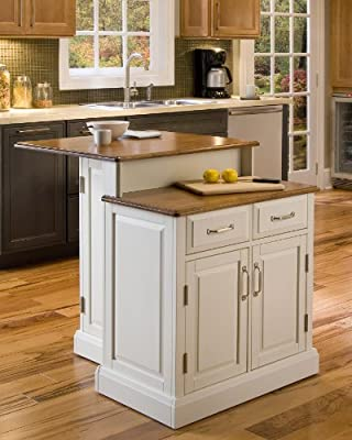 Woodbridge White Kitchen Island by Home Styles from Home Styles