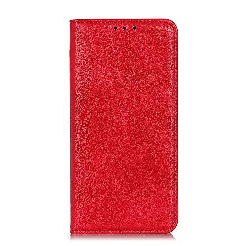 Botongda für Xiaomi Mi Mix 3 5G Hülle,[Unsichtbarer Magnetverschluss] Kunstleder Tasche mit Standfunktion & Kreditkartensteckplatz Flip Wallet Hülle Cover für Xiaomi Mi Mix 3 5G (Rot)
