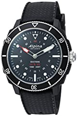 Alpina horological smartwatch with connected activity and sleep tracking functionalities as well as call and message notifications For iOS and android. Powered by mmt-365. Swiss made Quartz Movement Case Diameter: 45.5mm Water resistant to 100m (330f...
