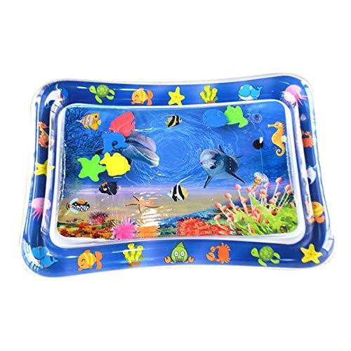 Langguth Colchoneta de agua inflable para niños, niños pequeños, esterilla de juego hinchable para niños pequeños, esterilla de juego para el desarrollo temprano perfecto para juegos sensoriales