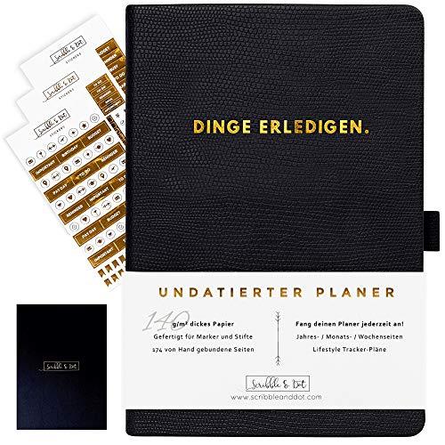 2021 Planer Wochenplaner Undatiertes Tagebuch Organiser - A5 Dickes Papier 140gsm - Kalender Ohne Datum - Wochen/Monats/Jahres-Planer Notizbuch Reiseplaner Terminplaner-\'Dinge erledigen\'