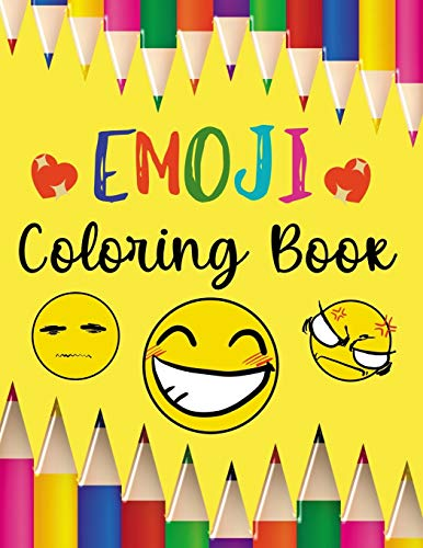 Emoji Coloring Book: 53 Cute Colouring Designs For Boys & Girls To Relieve Your Stress