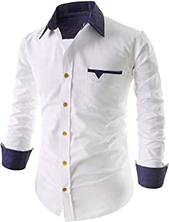 Life Roads Cotton Men's Casual Slim Fit Shirt