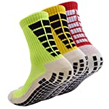 AOIREMON 3 Pairs Non Slip Hospital Socks, Anti...