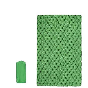 Wenxu Matelas de couchage double auto-gonflant confortable pour 2 personnes, matelas gonflable, 300 × 120 × 6,5 cm, ergonomique, portable et léger