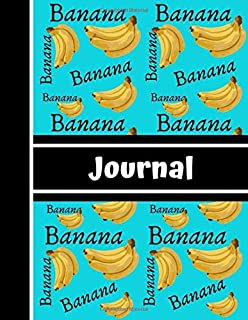 Banana Journal: Blue Yellow Banana Novelty Gift - Lined JOURNAL, 130 pages, 8.5