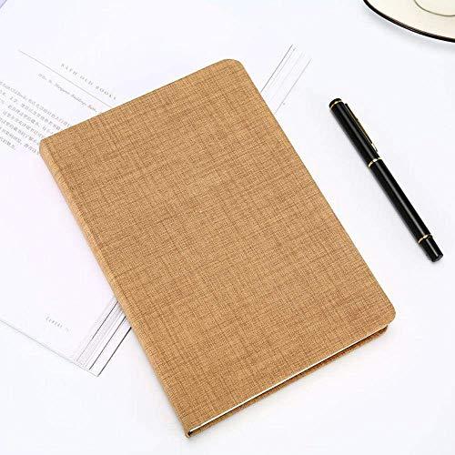 N\C Cuaderno de Cuero de Tela Tejida Bloc de Notas Papelería Creativa Papelería para Estudiantes, Amarillo, A5