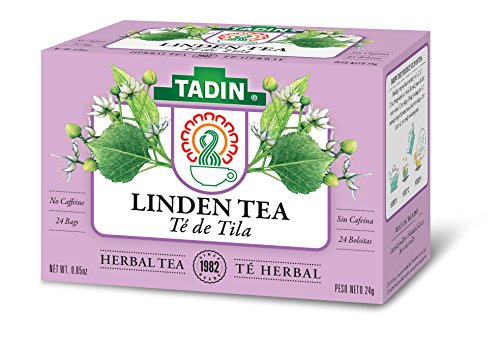 Tadin Herb and Tea Linden, Caffeine Free, 24 count, Pack of 6