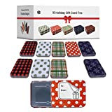 Gift Card Holder Christmas Tins - 10 Rustic Holders for Gift Cards & Money - Custom-Packaged Stylish Holiday Tin Boxes with Lids - Each Box Holds Gift Cards and Holders