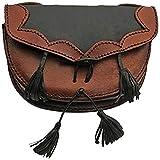 SZCO Supplies Medieval Black/Brown Belt Bag Leather Bag