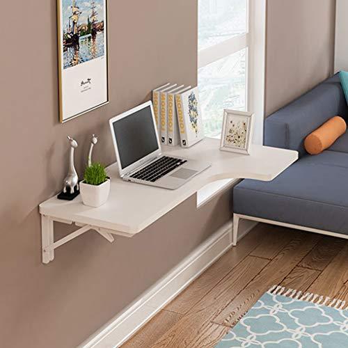 YNAYG Wand-Klapptisch L-Typ Eckwandtisch, klappbarer Multifunktions-Arbeitstisch mit hängendem Laptop-Schreibtisch für Zuhause/Büro, Massivholzplatte, platzsparender, schwimmender Schreibtisch