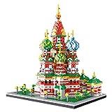 TITST Saint Basil Cathedral Model Building Nanoblock 4800 + Pcs Nano Mini Blocks Juego de Bricolaje Regalos de Juguete para Adultos y 6+ niños