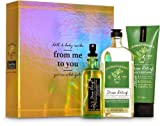 Bath and Body Works Aromatherapy Stress Relief EUCALYPTUS SPEARMINT FROM ME TO YOU Gift Box - 3 pc GIFT SET arranged in an iridescent gold gift with a ribbon.