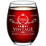 30th Birthday Gifts for Women and Men - 15oz Wine Glass - 30th Birthday Decorations for Her - 30th Anniversary Ideas for Her, Mom, Dad, Husband, Wife - 30 Years Gifts