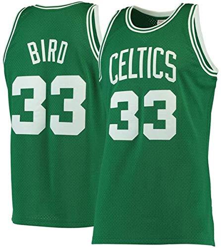 WSWZ Camiseta De Baloncesto para Hombre De La NBA - Celtics 33# Camisetas De La NBA De Larry Bird - Chalecos Casuales Unisex Camisetas Deportivas Camisetas Sin Mangas,A,XXL(185~190CM/95~110KG)