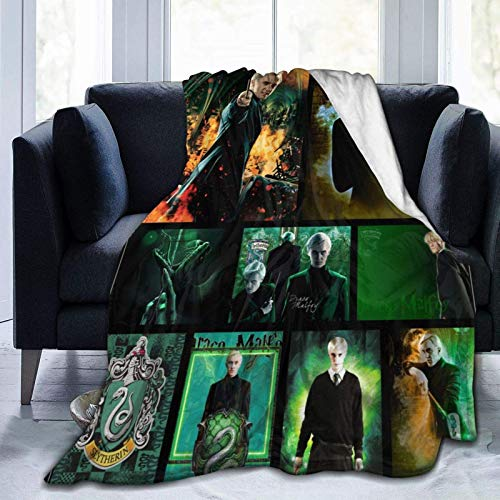 HIPPOY Draco-Malfoy Manta de forro polar ultra suave micro para sofá o cama manta cálida para todas las estaciones del sofá manta pequeña para niños