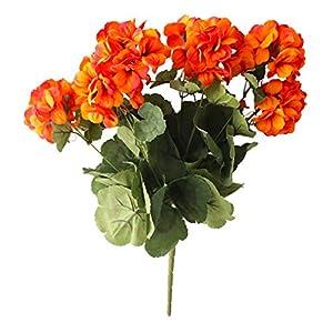 Silk Flower Arrangements Artificial and Dried Flower 7-Head Begonia Artificial Flowers Cloth Simulation Flowers Vivid Home Decoration Bouquets - ( Color: 2)