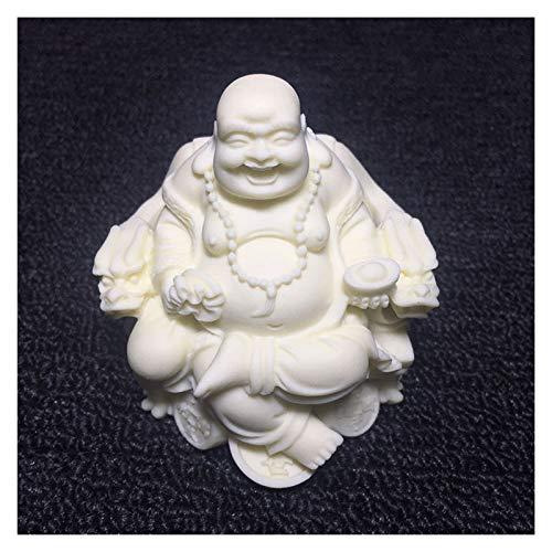 kerryshop Estatua Posición sentada riendo la Estatua de Buda, Silla del dragón de la Fortuna Buda, Arte Moderno SculptureHome God of Wealth Fatuette de Muebles Estatua de Buda
