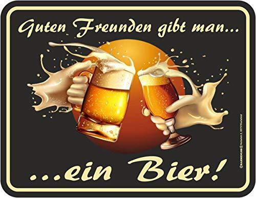 Fun-Schild - Guten Freunden gibt man ein Bier