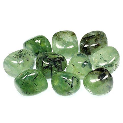 Epidote In Prehnite Tumble Stone (20-25Mm) - 5 Pack