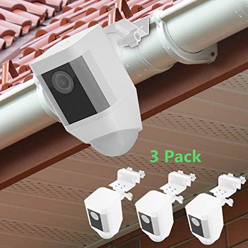 BECROWMEU Wetterfeste Dachrinnen-Halterung für Ringscheinwerfer, Kamera-Akku, größere Höhe, Bester Betrachtungswinkel für Ihre Ringüberwachungskamera